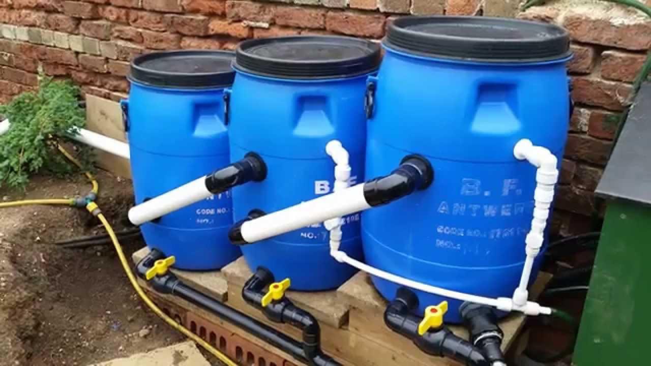 Carpe koi laghetto con sistema di drenaggio per laghetto for Sistema di filtraggio per laghetto