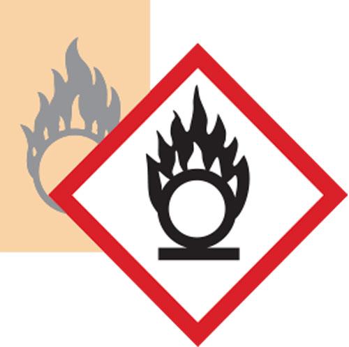 GHS simbolo Comburente