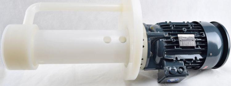 pompa verticale per acido cromico in pvdf