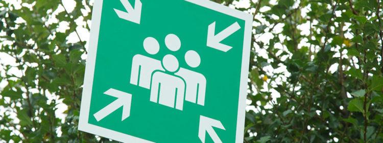 sicurezza aziendale segnaletica sicurezza punto di raccolta